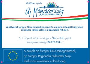 vállalatirányítási szoftver: eusys fejlesztés Számadónál EU forrással